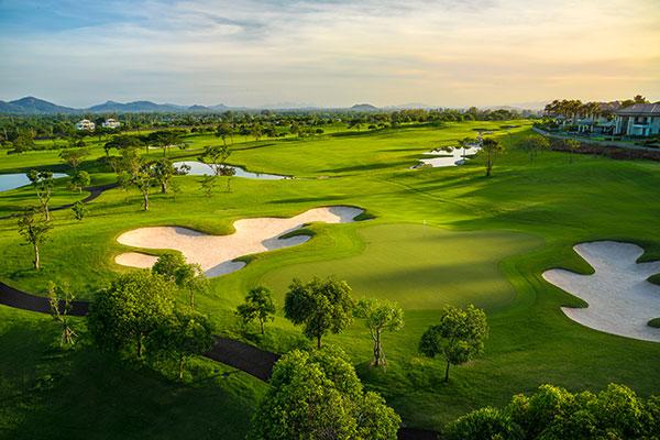Hua Hin Black Mountain Resort Golfplatz Loch 10