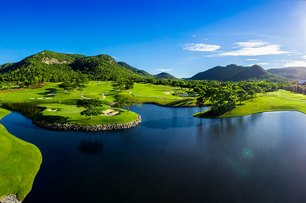 Hua Hin Black Mountain Resort Golfplatz Loch 4