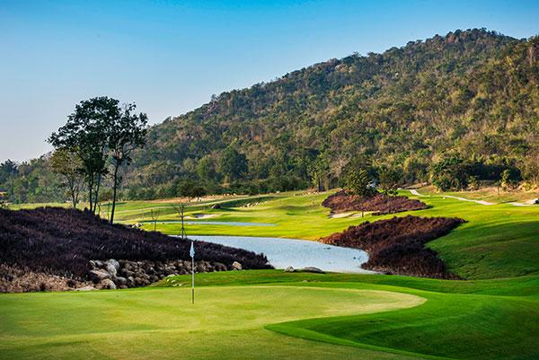 Hua Hin Black Mountain Resort Golfplatz Loch 7