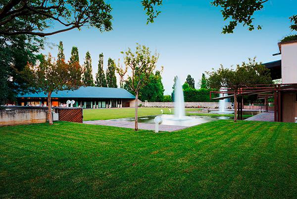 Garten des Agriturismo Corte d'Acqua in Abano Terme
