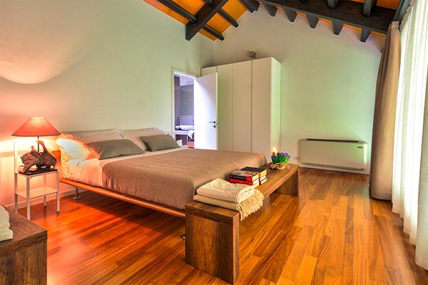 Schlafzimmer im Apartment des Agriturismo Corte d'Acqua in Abano Terme