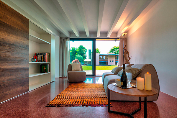 Wohnzimmer im Apartment des Agriturismo Corte d'Acqua in Abano Terme