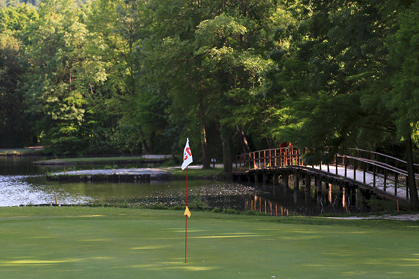 Italien Padua Golf Club Frassanelle 15.Spielbahn